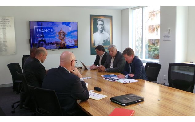 French candidacy to host the Rugby World Cup 2023 (29/08/17)