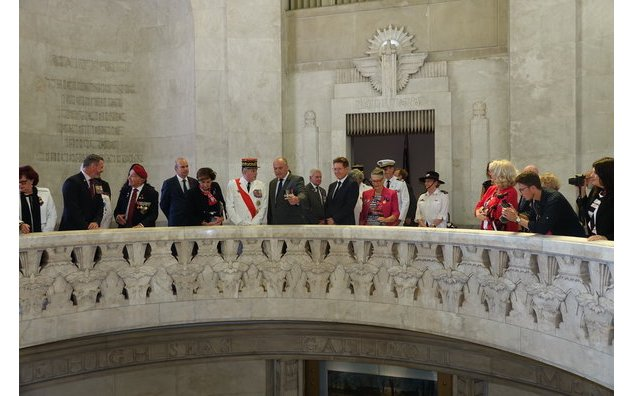 Visit of Army General Puga, Grand chancellor of the Legion of honor and of the national order of Merit at the Anzac Memorial in Sydney, 15/11/18